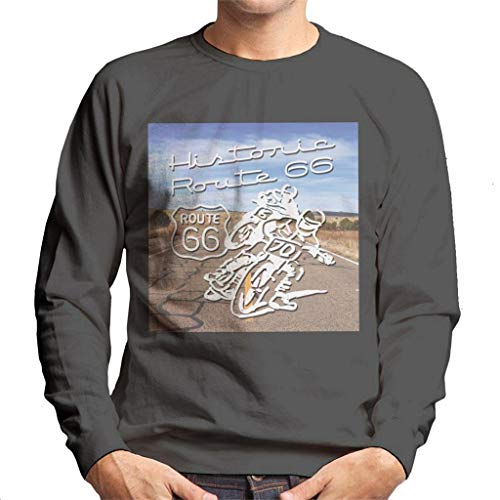 Route 66 Historic Motorcycles Heren Sweatshirt