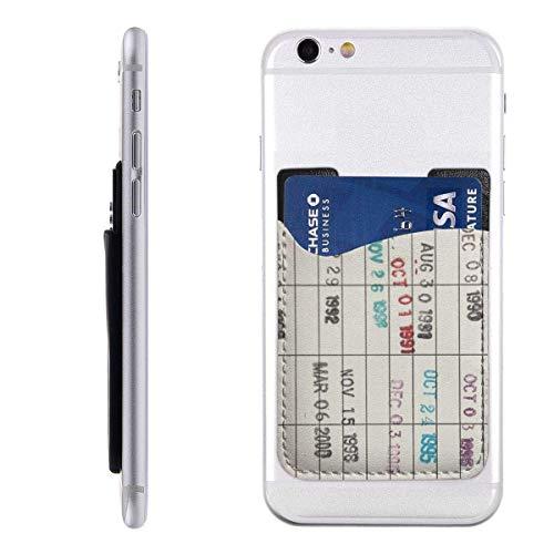Mobiele kaart Portemonnee Portemonnee, Pocket ID Credit Card SleeveCollege Vintage Bibliotheek Due Datum Nummers Fonts Druk op de Universiteit