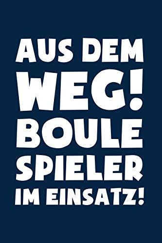 Boule: Boulespieler im Einsatz!: Notizbuch / Notizheft für Petanque Boccia A5 (6x9in) dotted Punktraster