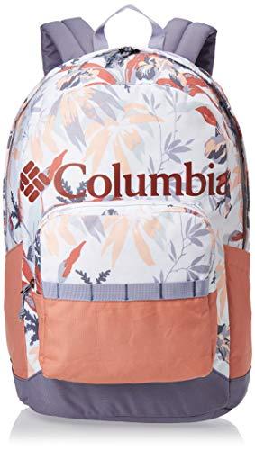 Columbia Zigzag Rucksack, 22 l, Weiß mit Blumenmotiven/Hellrot (New Moon Magnolia Floral/Cedar Blush)