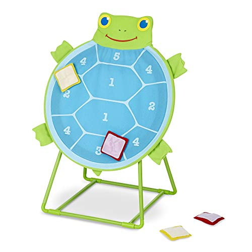 Melissa & Doug Sunny Patch Dilly Dally Tootle Turtle Target Game (Active Play & Outdoor, Two Color Self-Sticking Bean Bags, Great Gift for Girls and Boys - Best for 3, 4, 5, and 6 Year Olds)