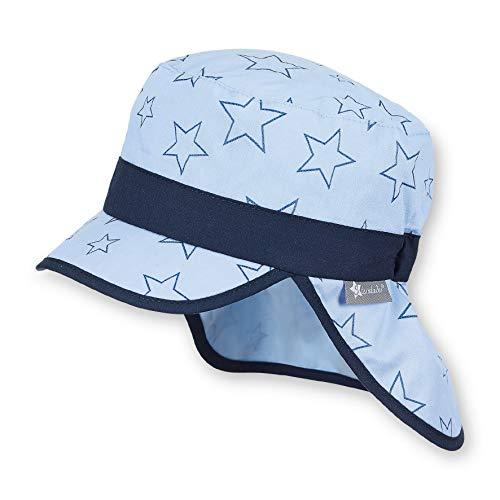 Sterntaler Schirmmütze mit Nackenschutz, Alter: 9-12 Monate, Größe: 47, Hellblau (Himmel)