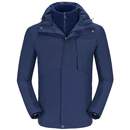 CAMELSPORTS Men's Mountain Ski Jacket 3 in 1 Waterproof Winter Jacket Warm Snow Jacket Hooded Rain...