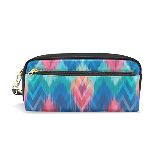 Rootti Colorful National Texture Pencil Case Pen Bag Students Stationery Supplies Pouch with Zipper Cosmetic Makeup Bag Storage Bag Makeup Bag for Men Women