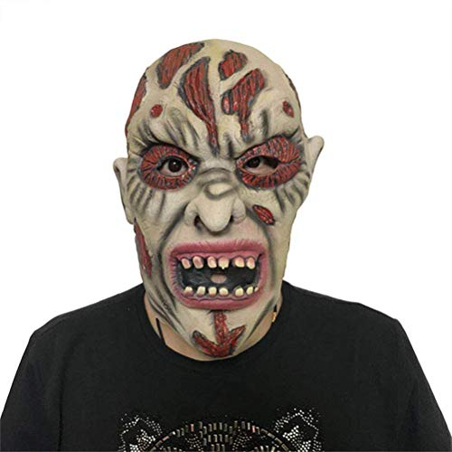 S$S Erwachsene Maske, Zombie Maske Latex Bloody Scary Extrem Ekelhaft Vollgesichtsmaske Kostüm Party Cosplay Spielzeug Cap