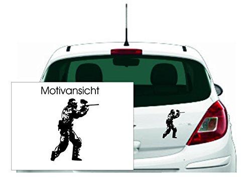KFZ Aufkleber - 'Paintball'//Autoaufkleber Farben- und Größenwahl (Schwarz - 270 mm x 210 mm)