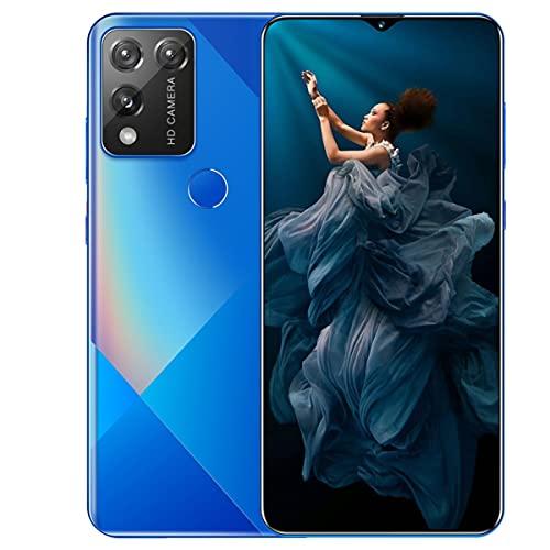 Pretty Store Teléfono Inteligente Android 5G, Batería De 5800 MAh, Pantalla Infinity-V De 7.0 Pulgadas, 512 GB / 12 GB De RAM, Doble SIM, Android 10 (Color : Blue)