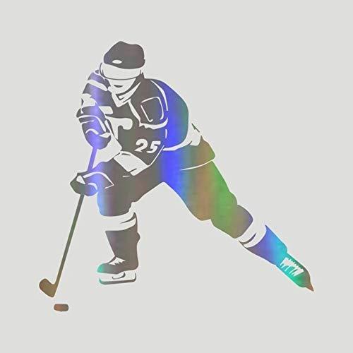 N Autoaufkleber 18.3CM * 18CM Hockey Sport Silhouette Auto Motorräder Aufkleber Reflektierendes Auto Styling KAUFEN 2 Save Half Custom Aufkleber 1 STÜCK Laser