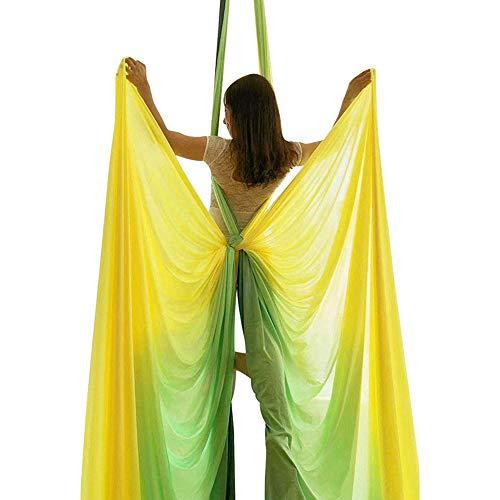 LOVEHOUGE Juego de columpio aéreo de yoga, kit de seda de hamaca de yoga aérea, correa de ajuste de altura, almacenamiento portátil, color degradado, A4