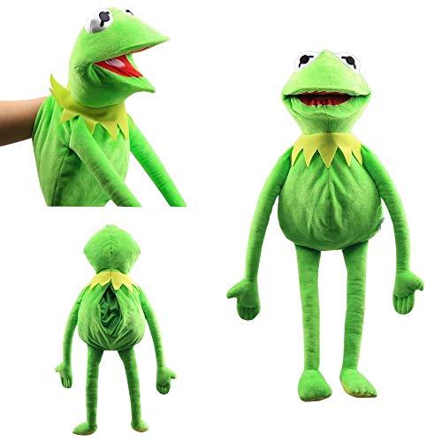 Intervic Peluche Marioneta muñeco de Felpa de la Rana Gustavo 60cm Los Teleñecos Kermit Marioneta de Animal Suave Adorable Regalo Juguetes para niños y niñas