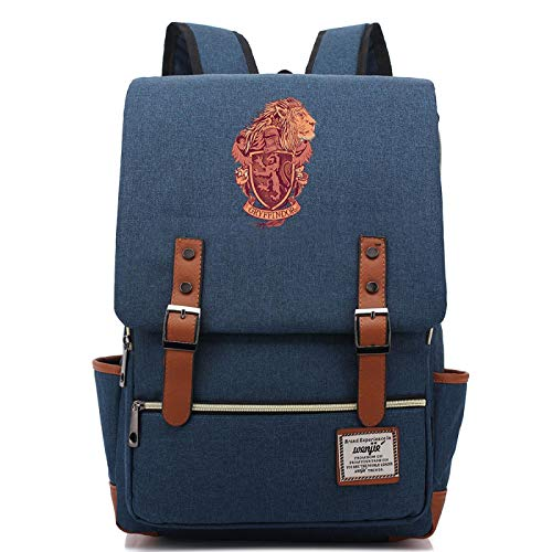 Gryffindor College Backpack Junior School Learn Backpack Waterproof Canvas Backpack Bicycle Backpack Small Navyblue