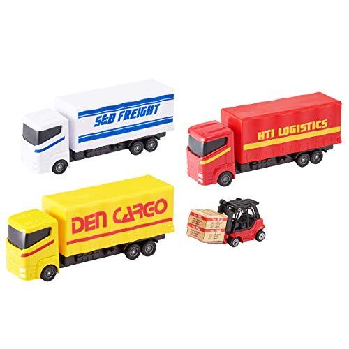 Teamsterz Load & Go-Spielset aus Druckguss | Kinder Metall Spielzeug Container Lieferfahrzeuge ideal für Kinder ab 3 Jahren