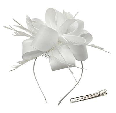 Fascinators Headband Hair Clip Satin Derby Headwear for Cocktail Wedding Church Tea Party