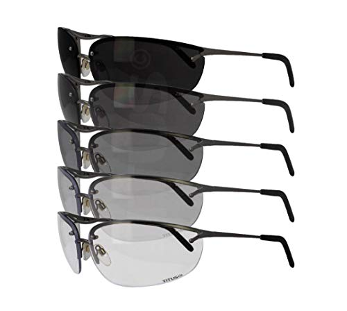 TITUS All-Purpose Safety Glasses with Protective Side Shield (Premium Wrap Around, Photochromatic)