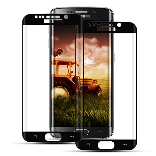 Mriaiz Panzerglas Schutzfolie für Samsung Galaxy S7 Edge, [2 Stück] Hohe Qualität Gehärtetem Glass [Full Coverage] [9H Härte] [Blasenfrei] [Anti-Kratzer] Panzerglasfolie für Samsung S7 Edge