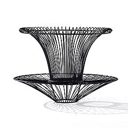 DGDF Fauteuil de Loisirs en rotin Unique en rotin de rotin de 360 degrés sans Retour, avec Support arrière, pour Cadre…