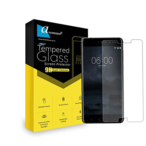 Ascension ® Curve Tempered for Nokia 8 Gorilla Glass Screen Protector High 9H Hard 2.5D Ultra Clear Transparent Set of 1