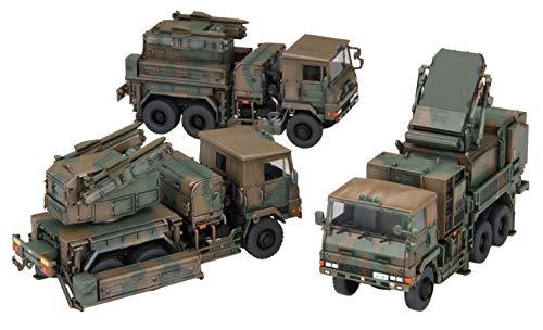 フジミ模型 1/72 ミリタリーシリーズ No.23 陸上自衛隊 81式短距離地対空誘導弾 射撃統制装置/発射機 3両セット 72M-23