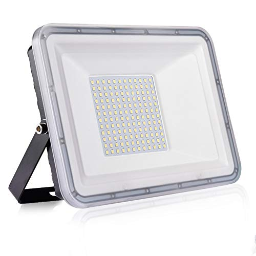 100W Proyector LED exterior IP67 Impermeable Foco exterior 10000 lumen Blanco frío 6500K...