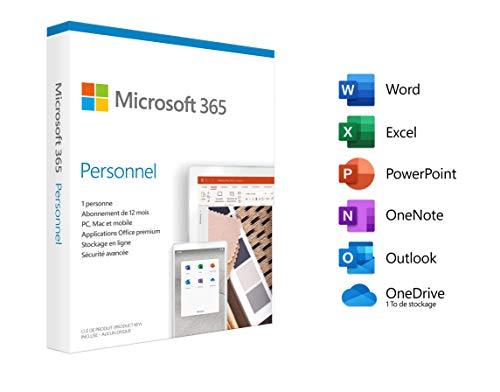 Microsoft 365 Personnel 2020 1 appareil 1 an PC/MAC/Chromebook Telechargement