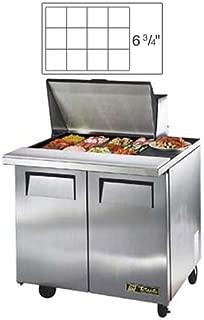 True TSSU-36-12MB Mega-Top Sandwich/Salad Prep Table for 12 Pans - Two Door, 36
