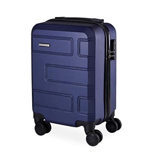 Mala de Bordo em ABS Com 4 Rodas 360 - Praticc (Azul)