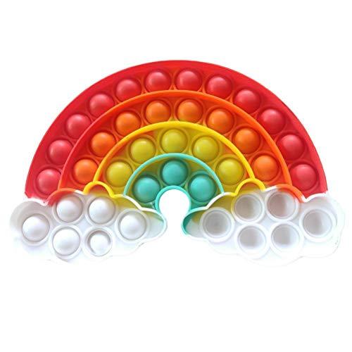 TBEONE Empuje burbuja sensorial juguete autismo TDAH necesidades especiales alivio del estrés silicona juguete apretando niños y adultos