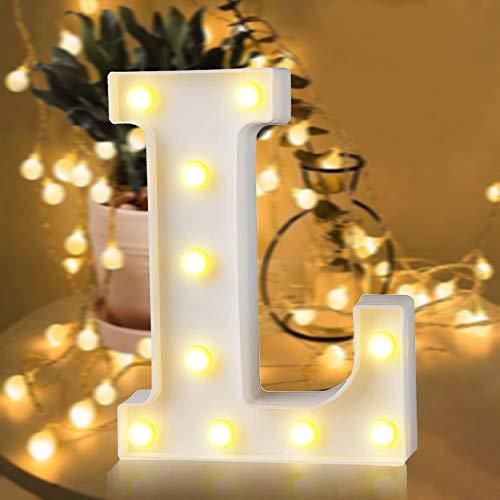 SANBLOGAN LED Buchstabe Lichter, Leuchtbuchstaben LED Brief Licht, Buchstaben Nachtlichter DIY Dekoration für Valentinstag Geburtstag Party Hochzeit Romantische Jahrestag - I Love U - Haus Deko