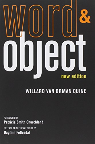 Word and Object (The MIT Press)