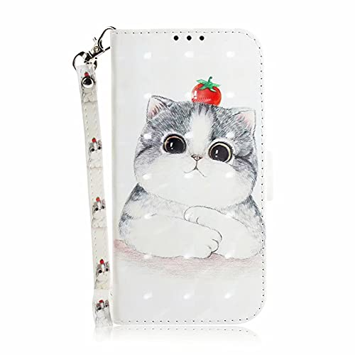 MTQLX Case for Samsung Galaxy A32 5G Case for Samsung SM-A526B SM-A526B/DS SM-A5260 SM-A526W Phone Case 3D Animal Cute Pattern Wallet Cover Cases (Selling Cute Cats)