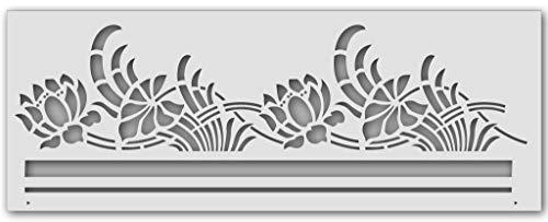 Wandschablone Jugendstil-Natur (40 x 15 cm)