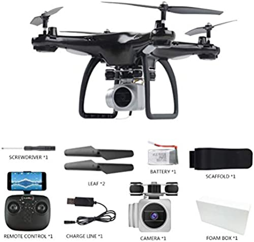 Faltbare Drohne mit 1080P HD-Kamera, Quadcopter mit WiFi Camera Live Video Mobile APP Control, RC Drone 360 ° Flips, Trajectory Flight