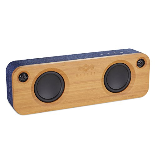 House of Marley Get Together, tragbare Bluetooth Lautsprecherbox, kabellose Verbindung, Mikrofon, Raumfüllender Sound, 3.5mm Aux-In, USB Port, 10 Std. Akkulaufzeit, denim