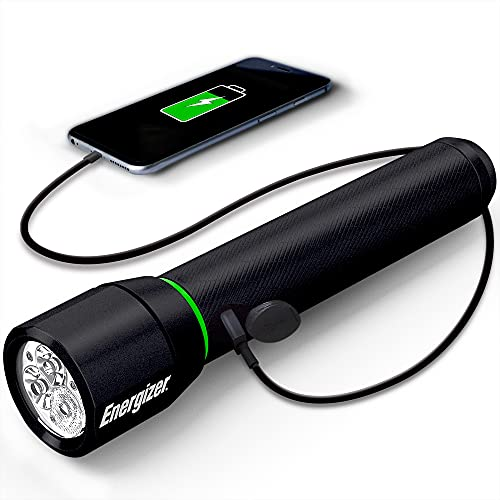 Energizer Vision HD LED Flashlight with Digital Focus, 1100 Lumens, IPX4 Water Resistant, Aircraft-Grade Aluminum LED Light, Rugged Rechargeable Flashlight