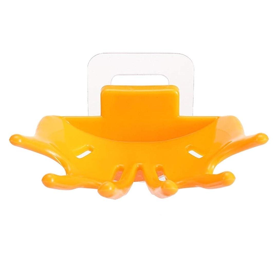 熱狂的な矢じり回想クリエイティブ人格6爪浴室強い壁掛けパームドレン石鹸箱浴室プラスチック石鹸箱ラック (Color : Color4)