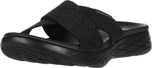 Skechers Damen On-The-go 600 Sandalen, Schwarz (Black Textile BBK), 39 EU