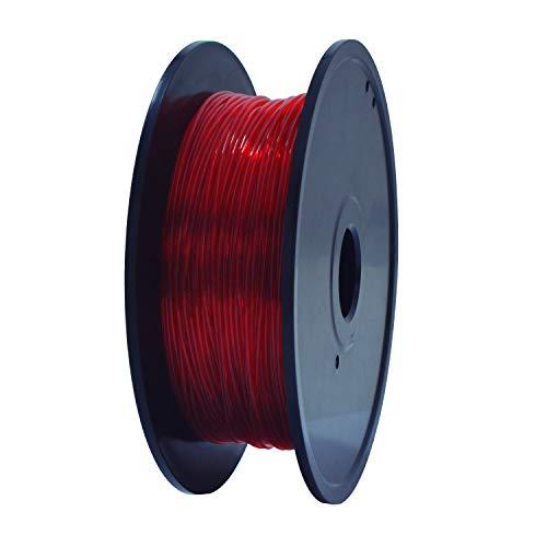 GIANTARM TPU Filament, precisión dimensional +/- 0.02 mm, filamento de TPU 1.75 mm 0.4 kg, (color rojo)