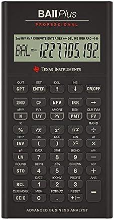 Texas Instruments BA II Plus Professional Financial Calculator (IIBAPRO/TBL/1L1)