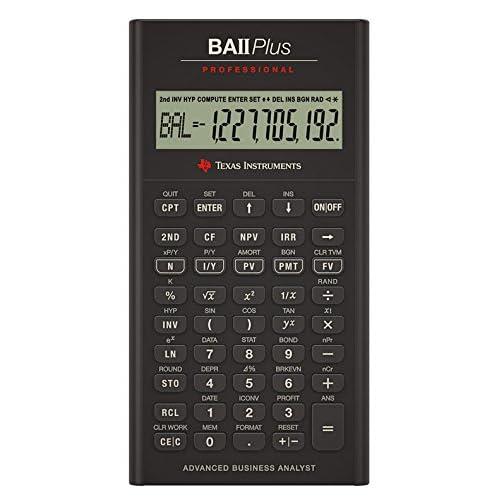 Texas Instruments BA II Plus Pro Calculatrice financière