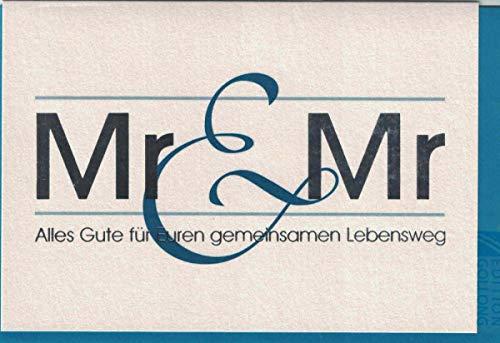 Hochzeitskarte Mr. & Mr.,gleichgeschlechtlich,homo,incl.Kuvert