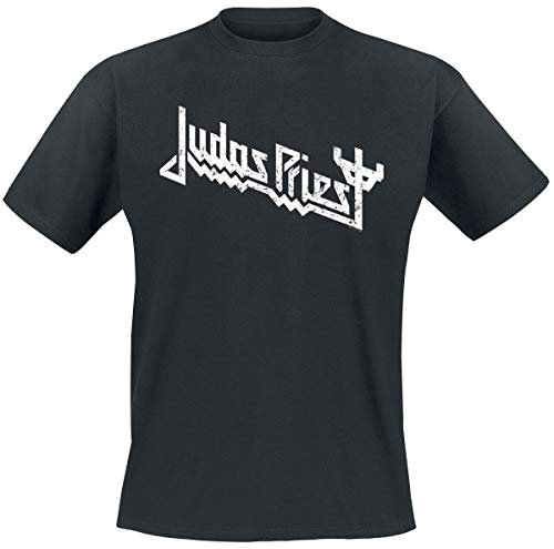 Judas Priest Logo Hombre Camiseta Negro XXL, 100% algodón, Regular