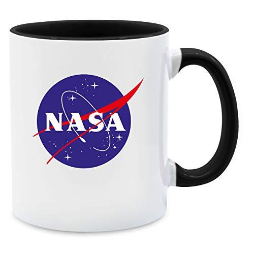 Shirtracer Statement Tasse - NASA Meatball Logo - Unisize - Schwarz - Mug NASA - Q9061 - Kaffee-Tasse inkl. Geschenk-Verpackung