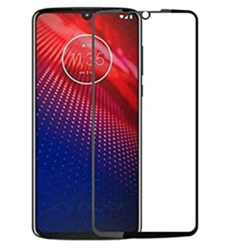 For Motorola Moto Z4 Full Coverage Screen Protector Tempered Glass - [2 PACK] Anti-scratch HD Screen Protective Film Tempered Glass for Motorola Z4