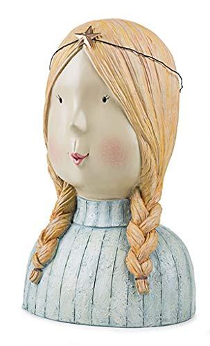 Baden Aufsteller Dekokopf Kopf Frau mit Zöpfen Frauenkopf Büste Zopf Kopfskulptur