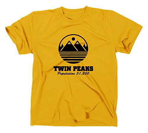 Twin Peaks Fan T Shirt, L, gelb