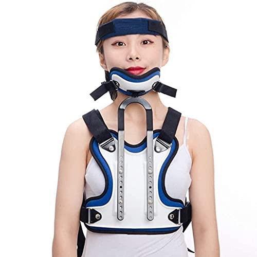 Angelay-Tian Corrector torácico Cervical, Cuello de Cabeza Ajustable ortesis torácica Cervical Soporte Lumbar para Cuello y Alivio de Las Lesiones de la Espalda Superior