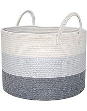 DOKEHOM DKA0625G bardzo duże, składane kosze na pranie, składany tunel, wodoodporne, płótno, bawełna, do przechowywania