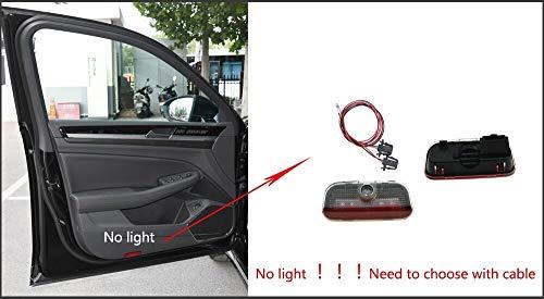 AWQC Luz de Bienvenida de la Puerta del Coche 1 par Compatible con VW Touareg 2011-2019 Coche LED Puerta Luz de Advertencia Proyector Ghost Sombra luz Luz de Bienvenida Lámpara de Bienvenida