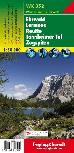 WK 352 Ehrwald - Lermoos - Reutte - Tannheimer Tal - Zugspitze, Wanderkarte 1:50 000