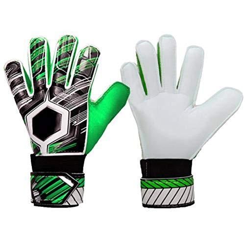 N-B Guantes profesionales para adultos de fútbol portero de fútbol de látex antideslizante guantes de portero anti-colisión de portero de dedo completo protección de la mano guantes